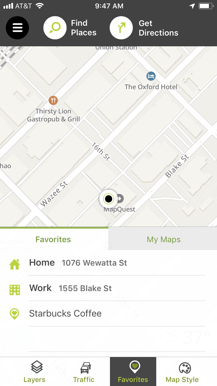 MyMaps on the MapQuest iOS app – MapQuest | Help