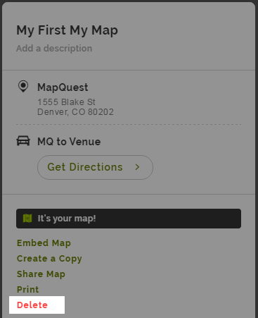 How to delete your My Maps – MapQuest | Help Map Directions Mapquest on driving directions, travel directions, maps directions,