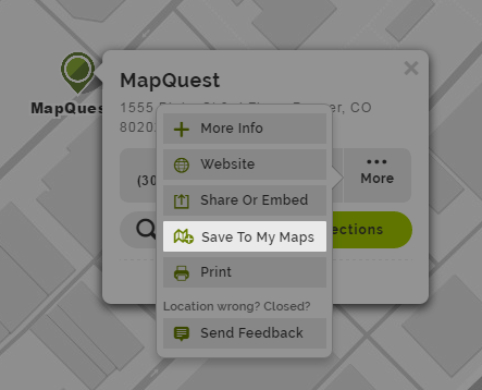 How to save places (pins) to your My Map – MapQuest | Help Save To My Maps on wo map, it's map, gw map, find map, can map, no map, tv map, nz map, india map, would map, personal systems map, get map, first map, future earth changes map, art that is a map, oh map, heart map, co map, ai map, bing map,
